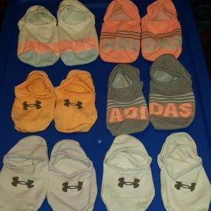 Lot of Adidas & Under Armour no show socks
